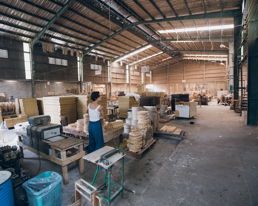 Kiến Phúc (Biên Hòa, Vietnam) - The family furniture workshop.