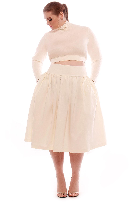 Fashion week Waist High skirt plus size for lady