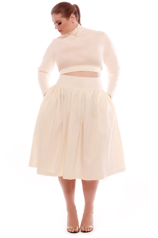 JIBRI High Waist Flare Skirt — JIBRI