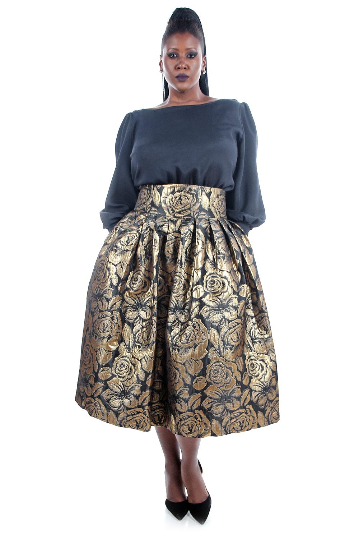 Flared High Waisted Skirt - Redskirtz