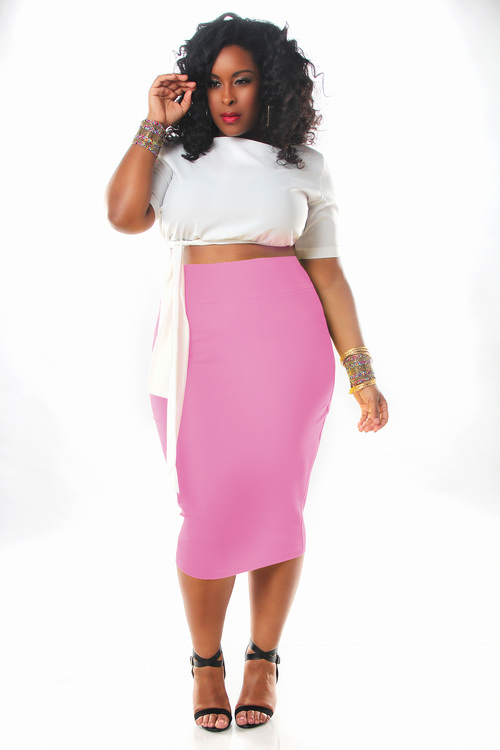 JIBRI High Waist Pencil Skirt — JIBRI