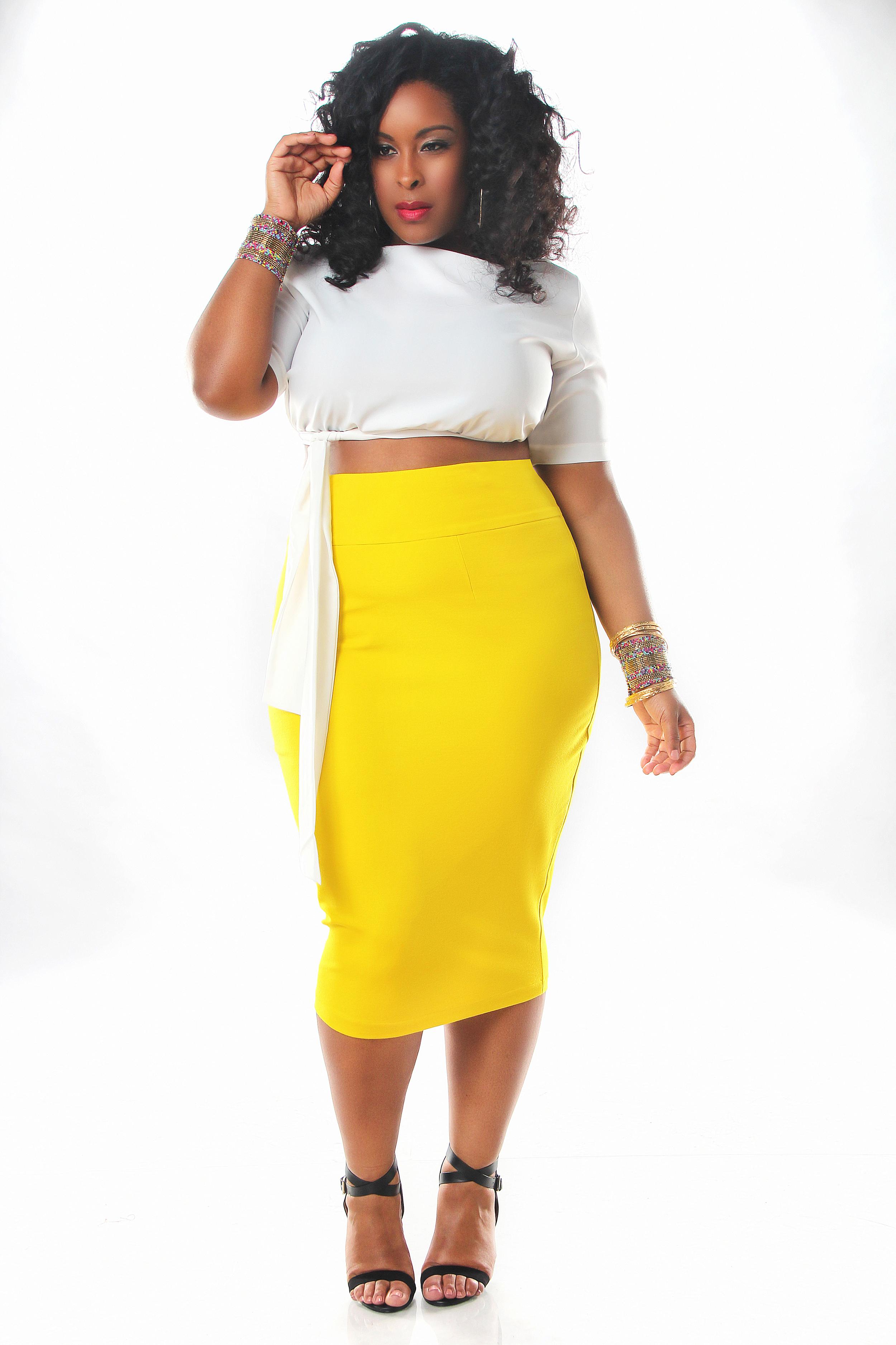 High waist skirt plus size
