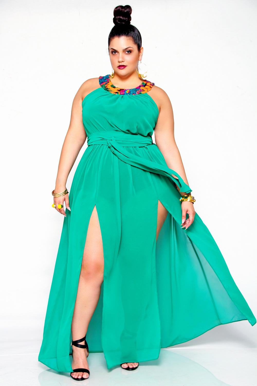 JIBRI Sheer Sequin Neck Poolside Dress — JIBRI