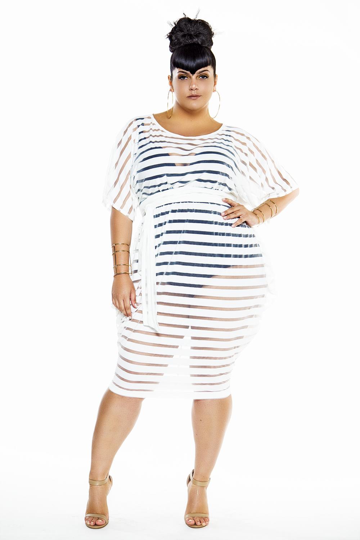 jibri striped sheer slouch poolside dress jibri. Black Bedroom Furniture Sets. Home Design Ideas