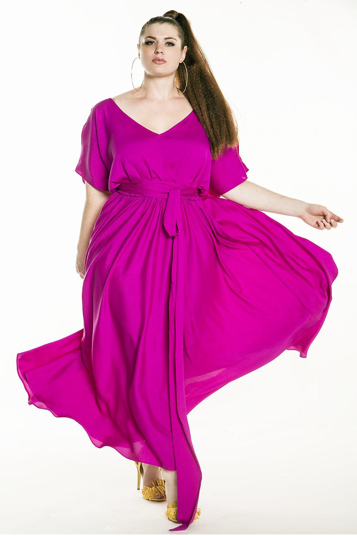Plus Size Pink Maxi Dresses