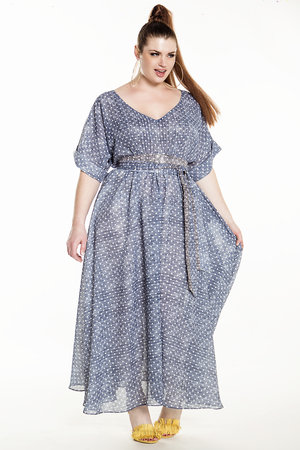 3bdaa77c01 JIBRI Printed Maxi Dress w  Cuff Detail