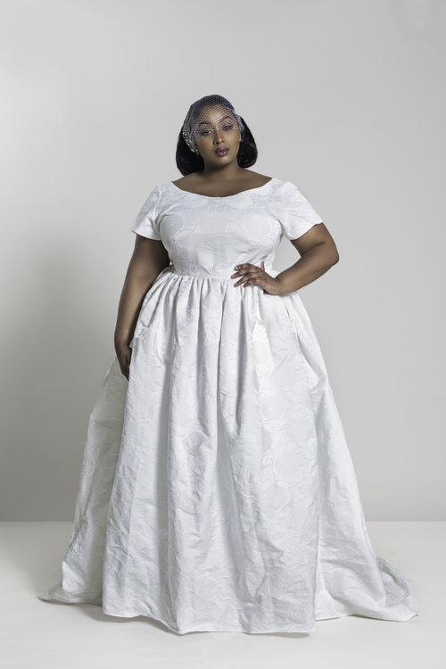 JIBRI Embroidered Bridal Gown — JIBRI