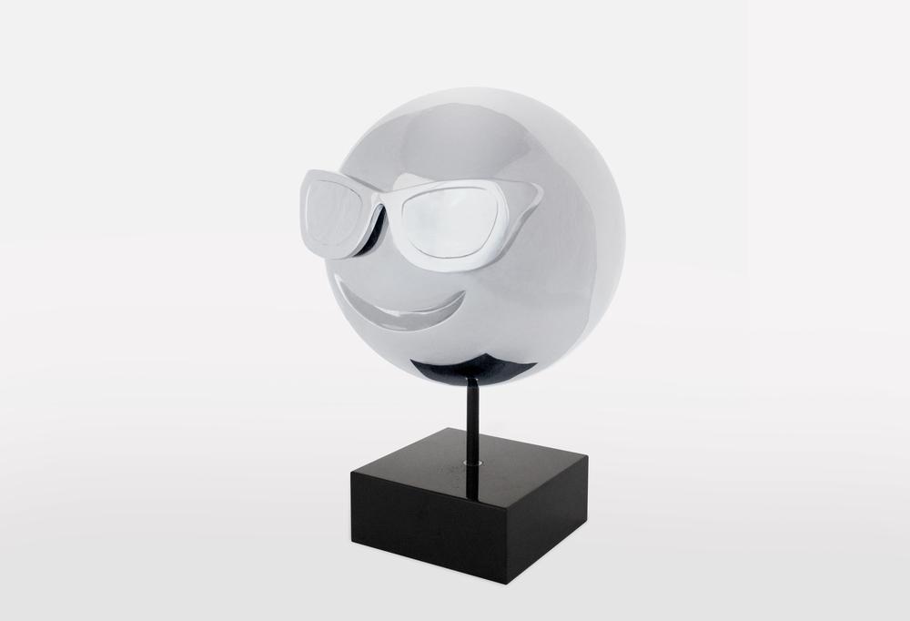 Sunglasses Emoji: Stainless Steel