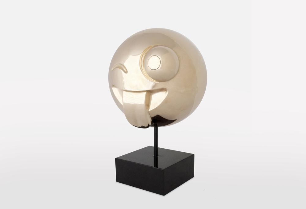 Crazy Emoji: Polished Bronze