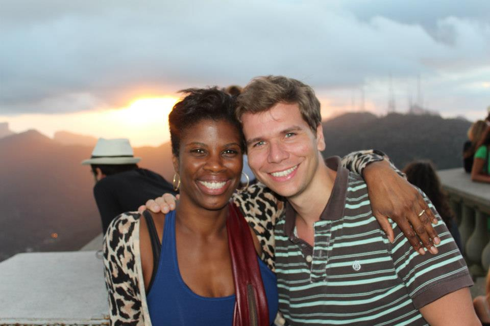Deidre and Kevin on top of Corcovado/Christ the Redeemer in Rio. We were teaching in Brazil on behalf of the New York Film Academy.