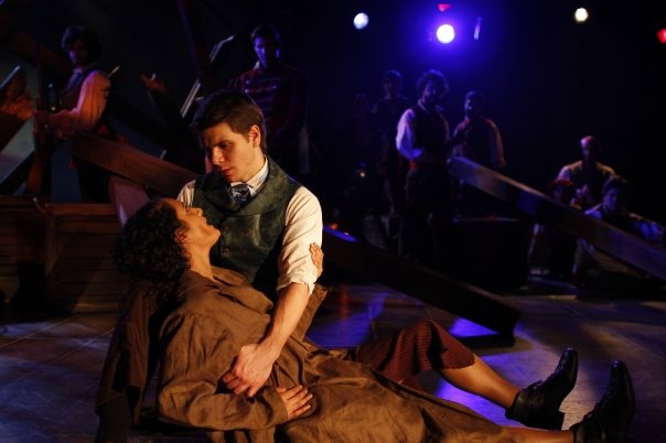 Marius in Northern Stage's  Les Miserables.