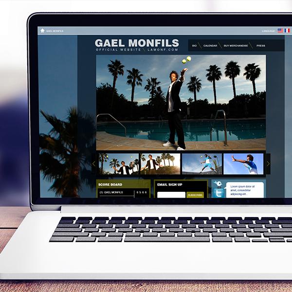 Gael Monfils: Website