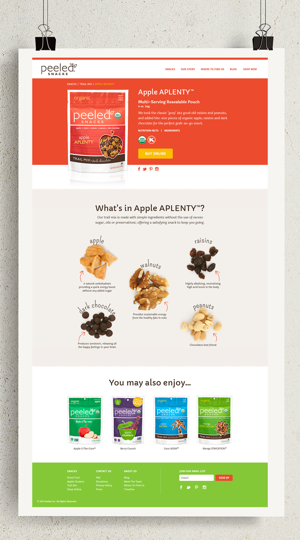 Peeled Snacks: Responsive Website | Rebranding