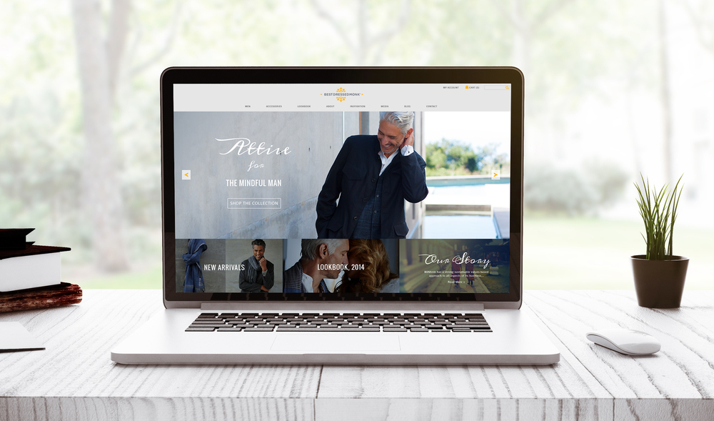 Best Dressed Monk: Responsive Website | Branding