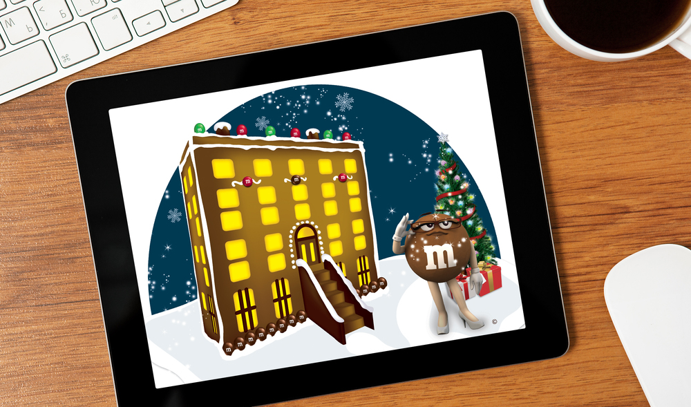 M&M: Gingerbread Houses | Illustration