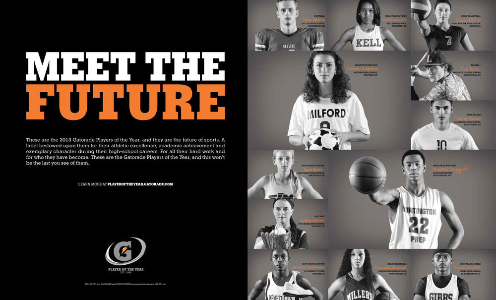 Gatorade Print Ad: Layout | Production