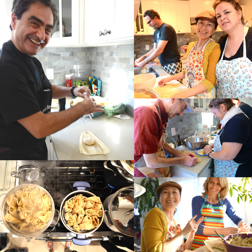 Family Tamale Making