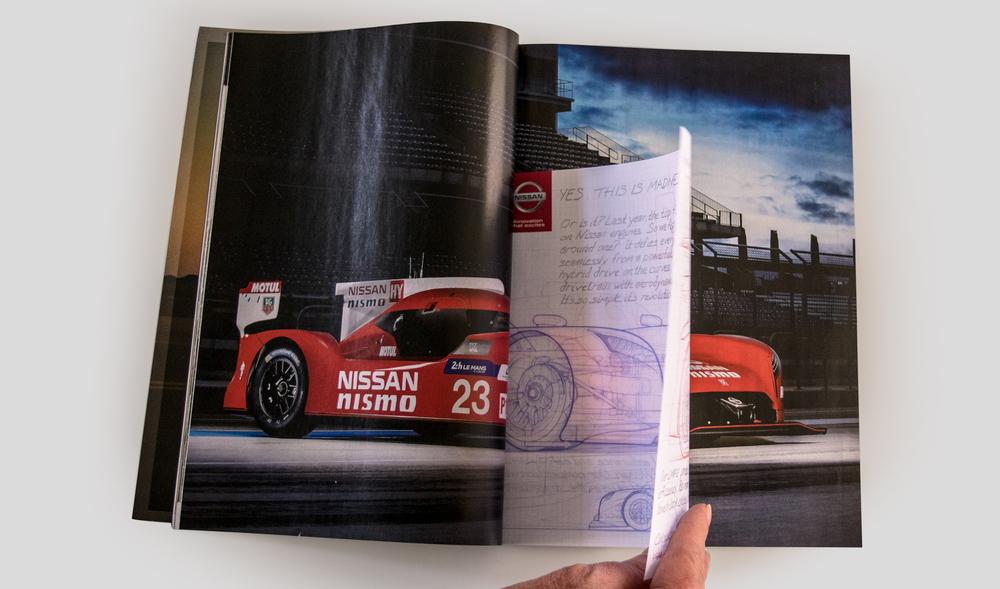 Nissan: NISMO LeMans Racecar Spread Ad