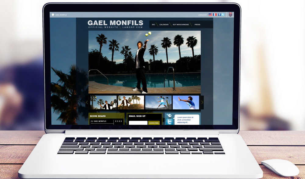 Gael Monfils: Website