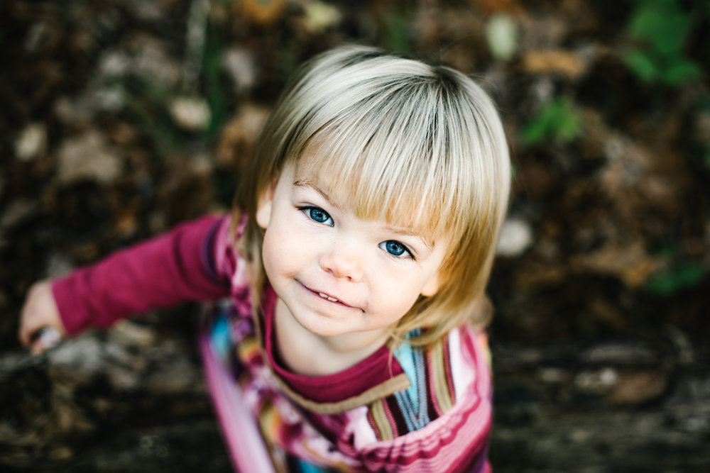 young blond toddler