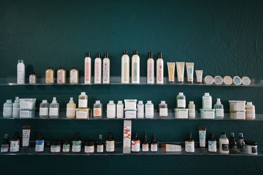 Salon product being displayed