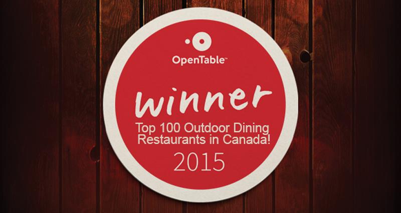 Top 100 Outdoor Dining Restaurants in Canada!