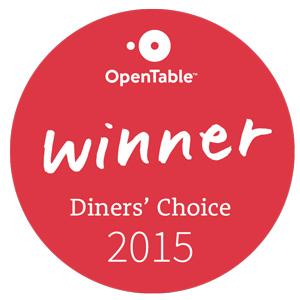 "Diner's Choice Winner ""Scenic View"""