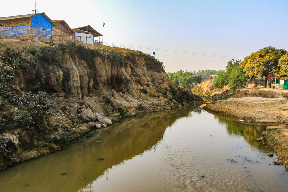 Stagnant water during the dry season--a taste of what is to come with the rains