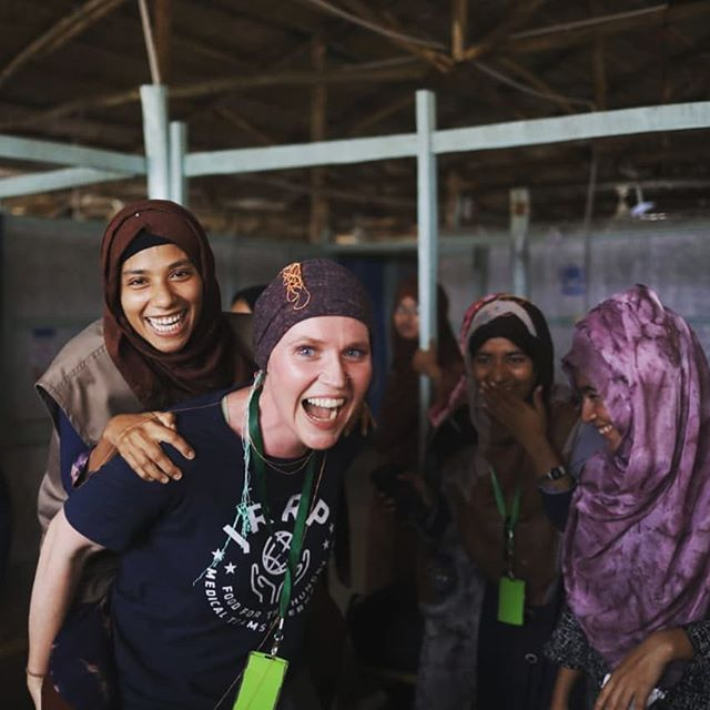"Last day in the camp 😭😭. I'm over the 🌙 overflowing with gratitude for the past 8mo of life in Bangladesh and for all of the love that I have been shown.  I've had the opportunity to work with an absolutely amazing team who inspire me and teach me something new every day. It is with a heavy but full heart that I leave my colleagues and kutupalong camp behind.  Friends,  continue to love boldly,  to tear down the walls which separate and isolate us, to continue to advocate for the rights of the Rohingya, to never give up,  to never lose hope and to speak out against injustice. I will never forget you! . . ""He has shown you what is good; and what does the Lord require of you,  but to do justly and to love mercy and to walk humbly with your God"" Micah 6:8 . . thanks @nihab_rahman and @cheetosplease for the pics!! Thanks @gacettam @kayeightie @kaitmase @raghib_nour @monodip_roy for all of the planning that went into today . Also lots of love to everyone who made these past 8mo possible!! @cecile1815 @vanessasyarwood @suddenlydrcox @dj_peaches @chenitsi @jennystoecker @muradchy @anguslabeef @after_jk @_ahmad._ @_abdullah_solaiman_ @taherullah.akash @pbrucemurray @yogibetsy @sukanyaborthakur @charfromafar_ @corina0101 @dhrubajyotikar @roseannd @fionaomeara @food4thehungry @hmshasib @medicalteams @ingynz @unhcr_bgd @jenjoymey @jrollat1 @travel.nurse.sarah1082 @master.kickpop @iamleslieaaron @mahbuba_sweety @monalis369 @mhnewsome @noshnposh @nomansn22 @prospectarts @_p_w_w @rowfiqulislam @real.sergey @rhyde2 @refugees @tanya.martineau @turnerlr @pryankalove and many others! . . #farewell #banglagood #bangladesh #kutupalong #rohingyacrisis #rohingyarefugeecrisis #refugeecamplife #foodforthehungry #medicalteamsinternational #humanitarians #healthisahumanright #withrefugees"