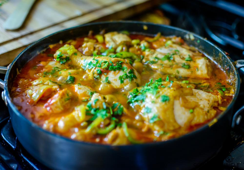 Hungarian Chicken Paprikash With Parsley Nokedli   gourmetcubicle