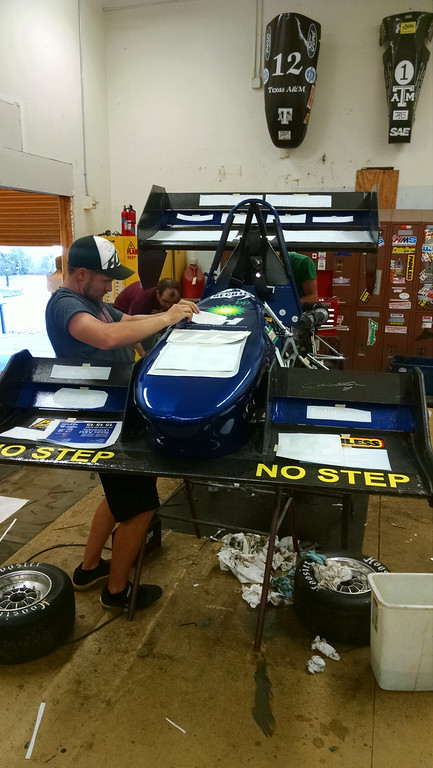 2014 Competition car getting the final touches