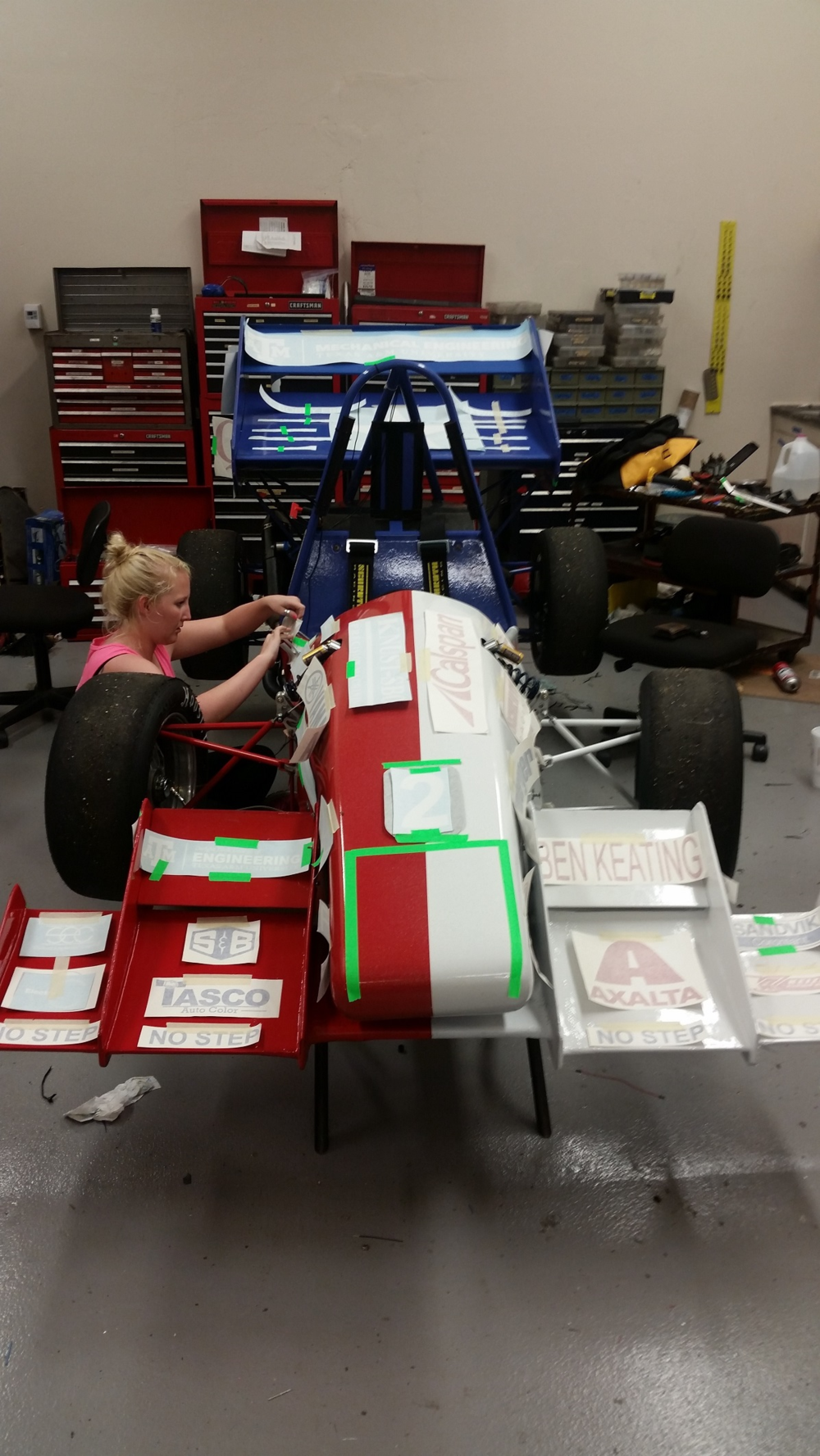 2015 Competition car getting the finishing touches