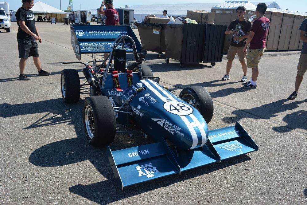 Car built by the 2016 team