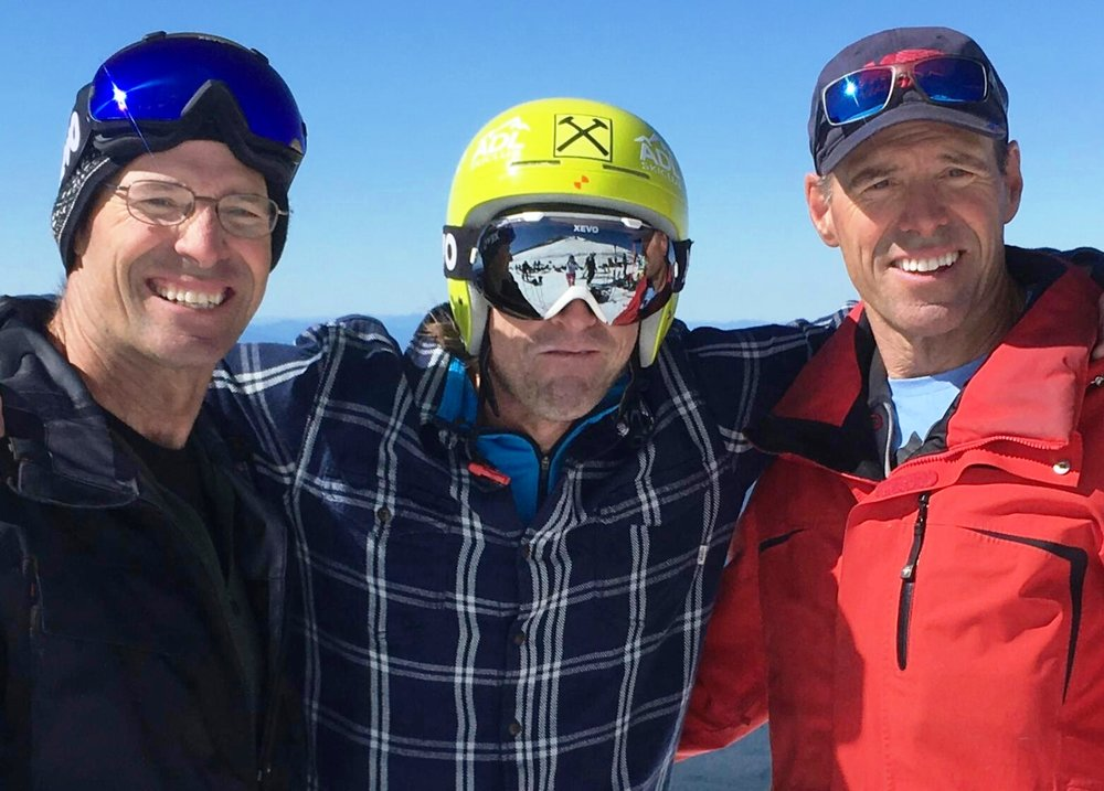 Steve, Kyle Watson and Phil, Mt Hood 2016