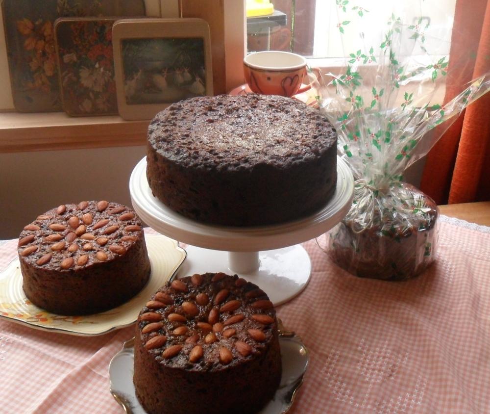 Jennifer's famous Christmas cakes