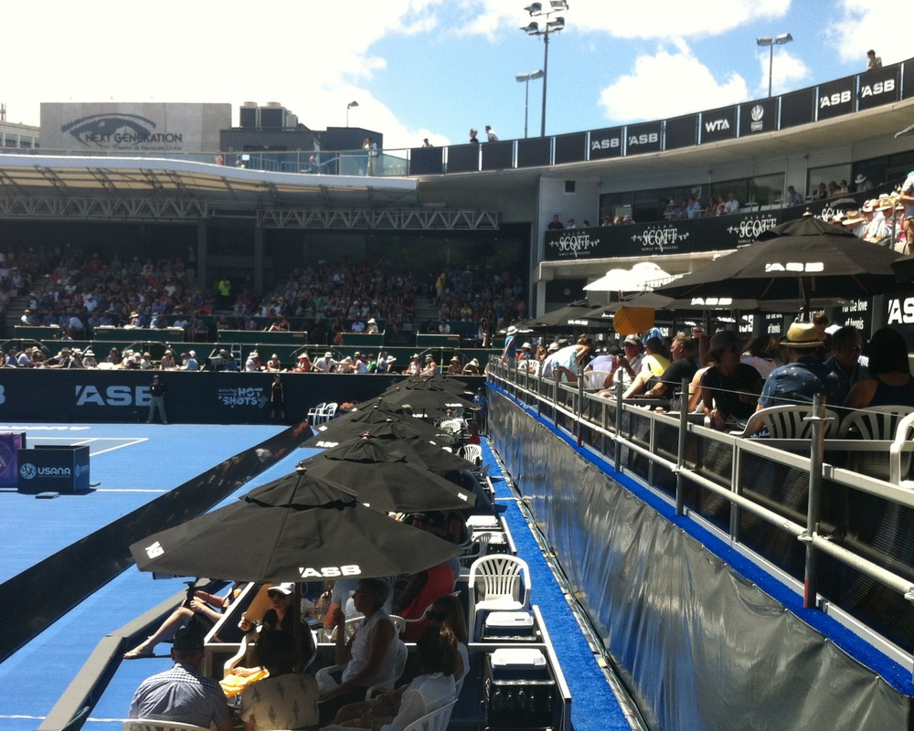 Courtside at ASB Classic - January 2015