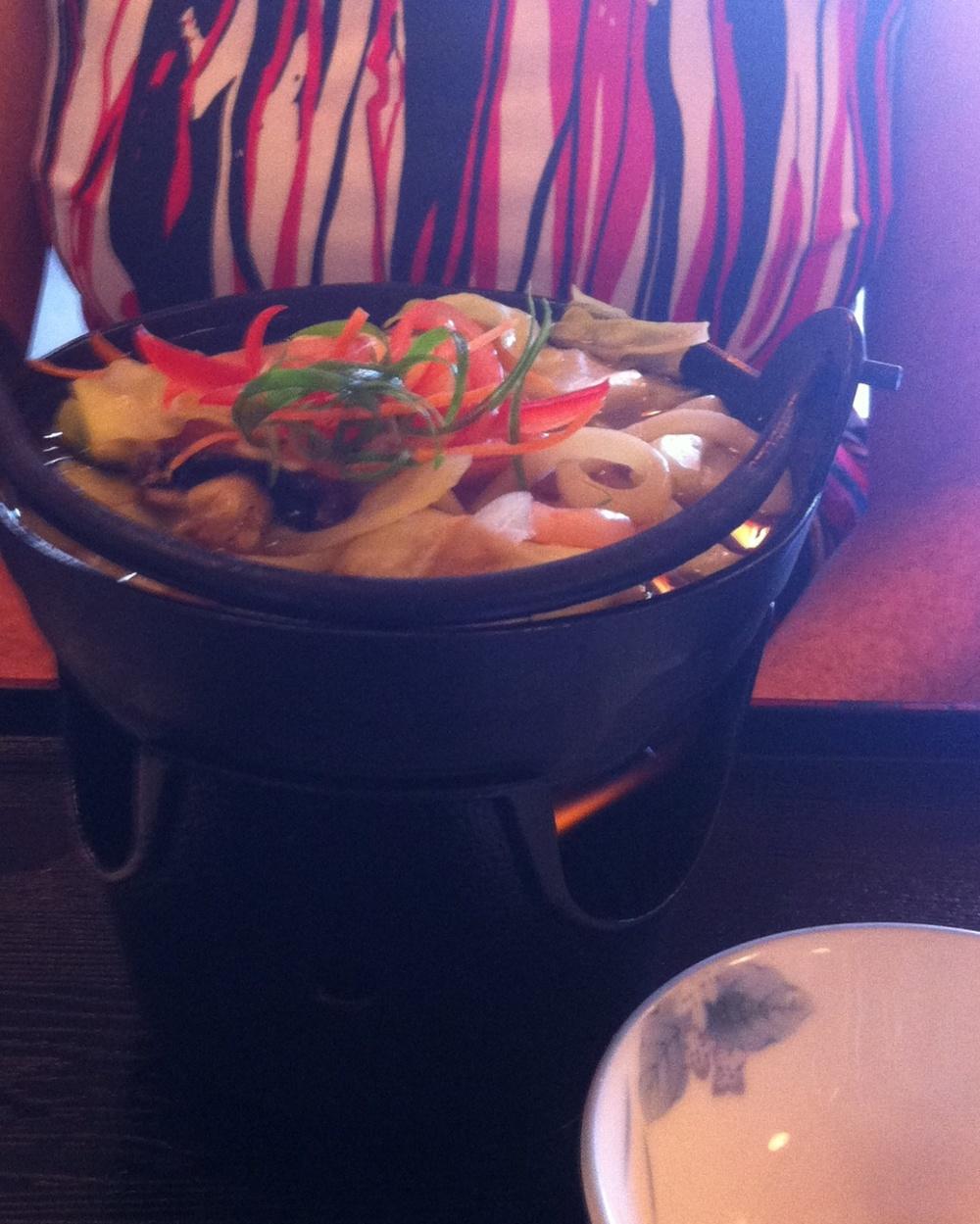 Shogun's Nabe Udon - seafood hotpot