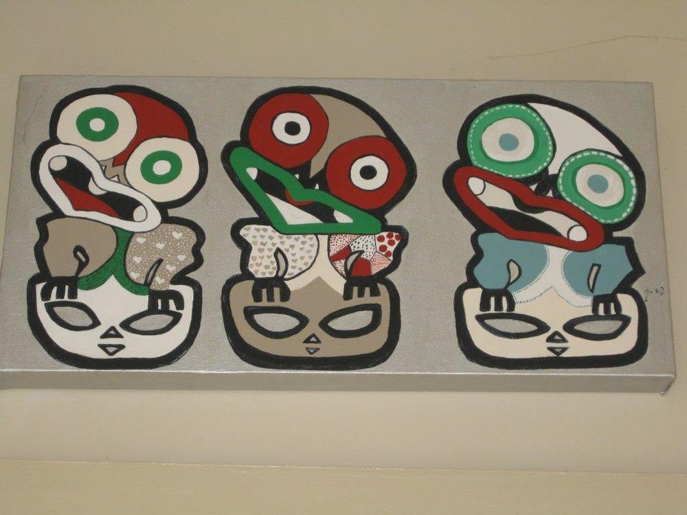Local artwork at Jandals Cafe, Whitianga