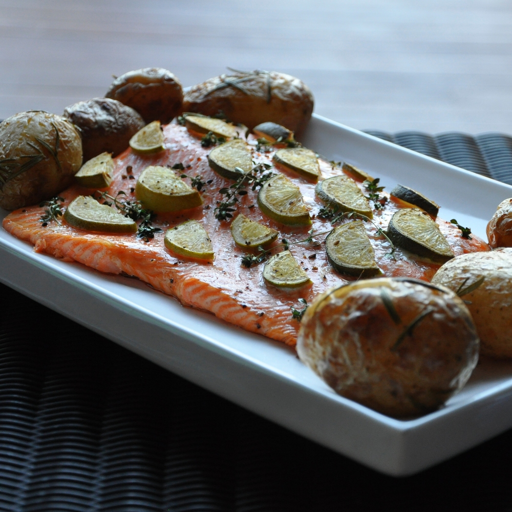 zesty lime thyme salmon