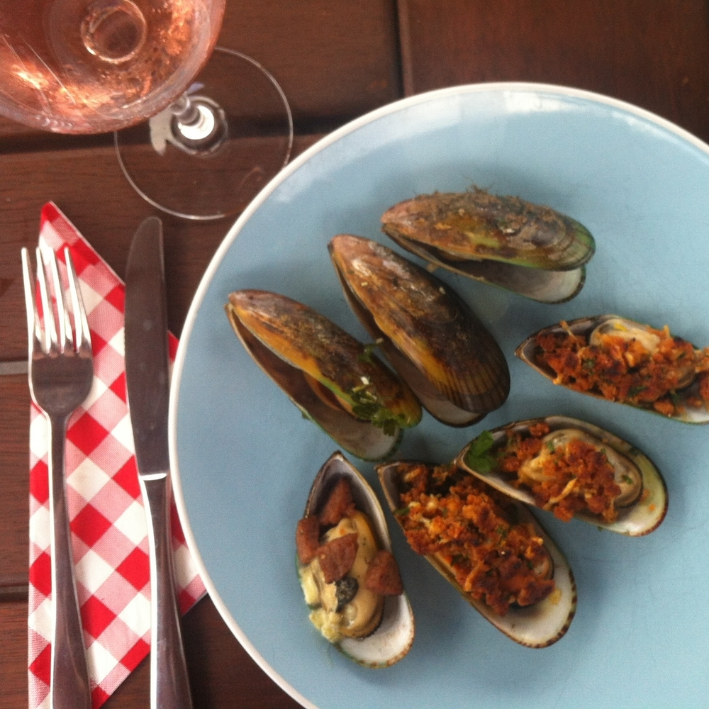 Green lipped mussels three ways