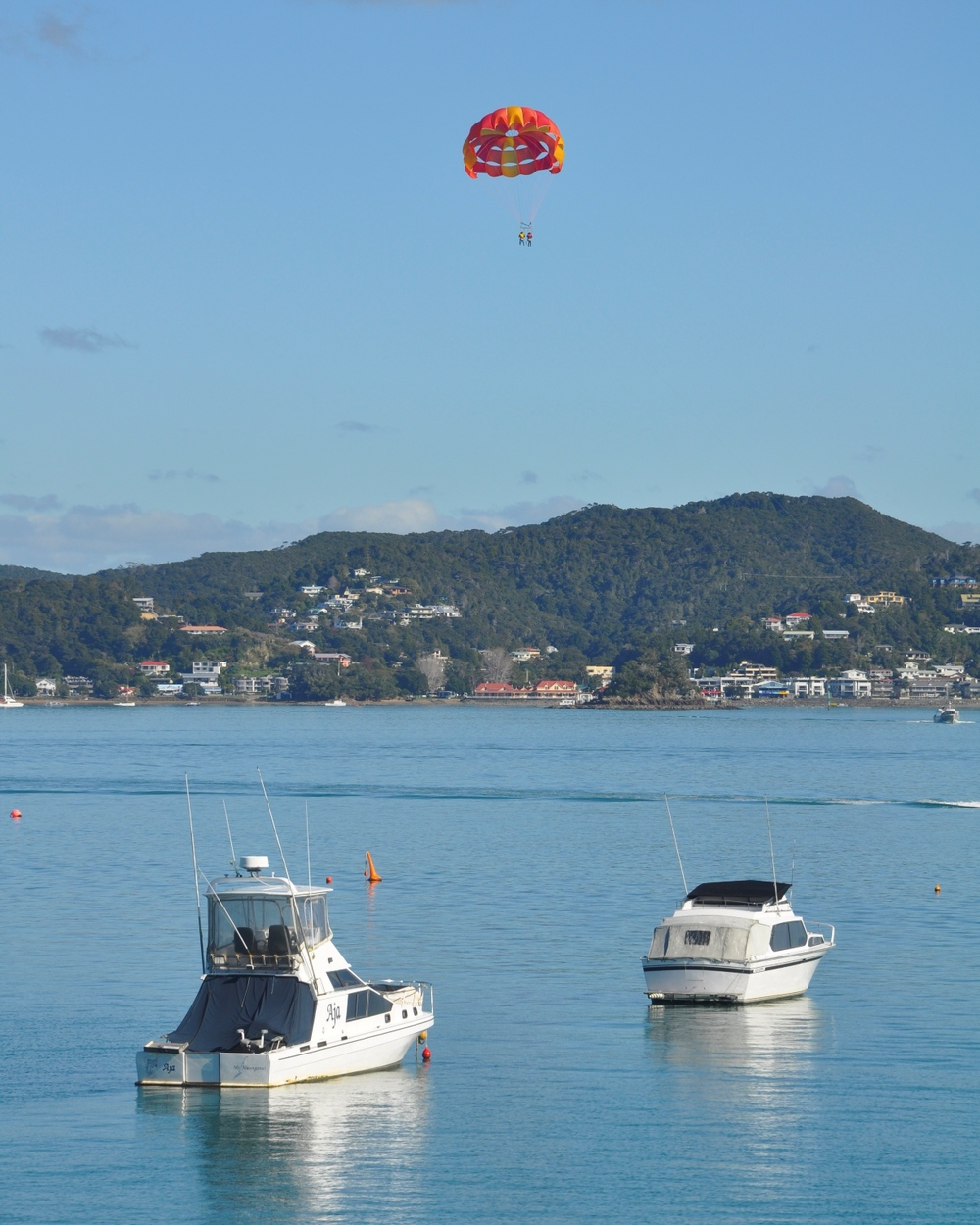 Parasailing between Russell and Pahia  - June 2012