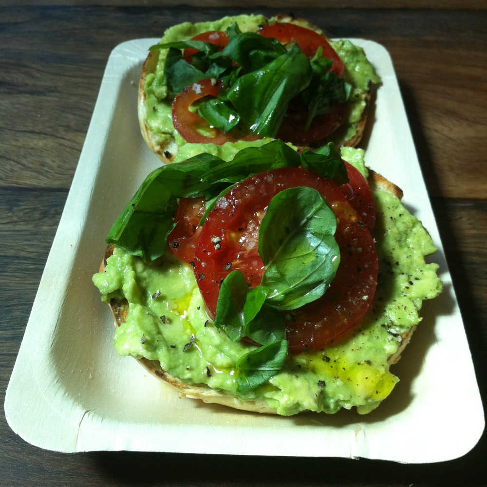 T.A.B. - tomato, avocado and basil drizzled with lemon fennel olive oil