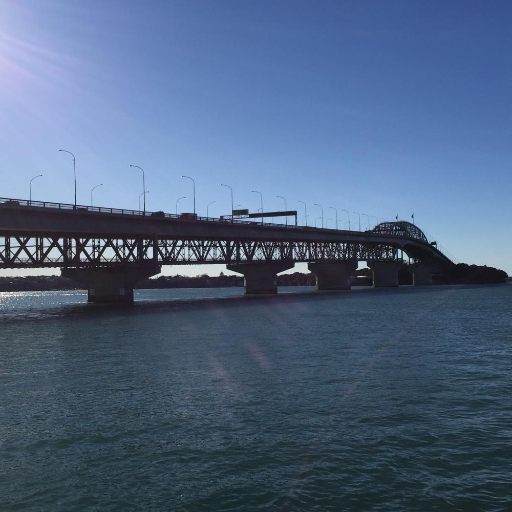 A gorgeous winter's day - Auckland Harbour Bridge