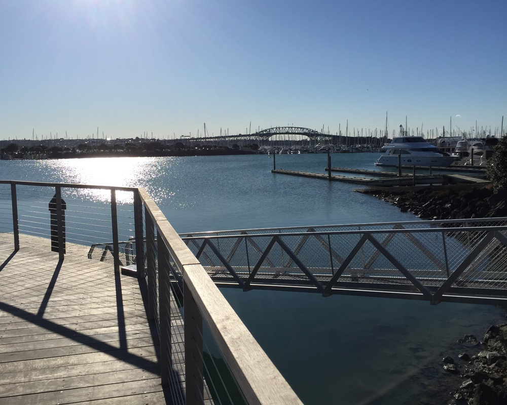 Boardwalk for walkers, cyclists and boaties too