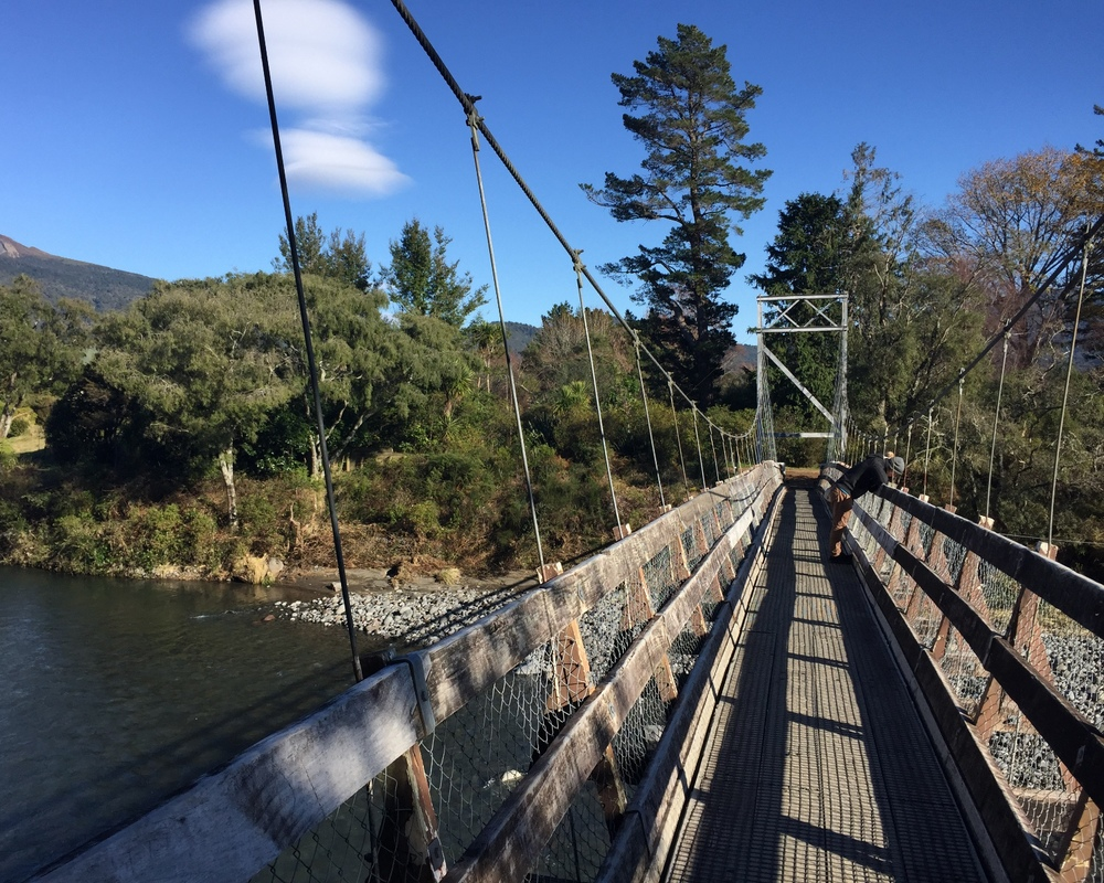The Major Jones Swing Bridge - access for anglers and to biking and walking trails