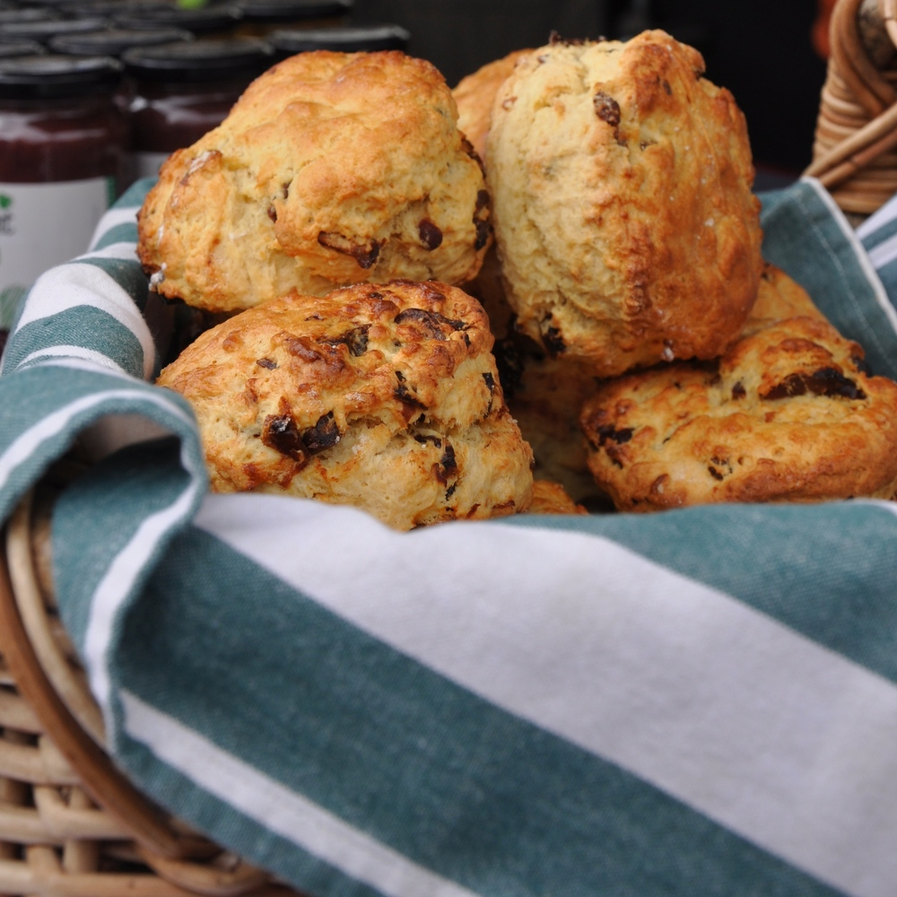 Home baked date scones