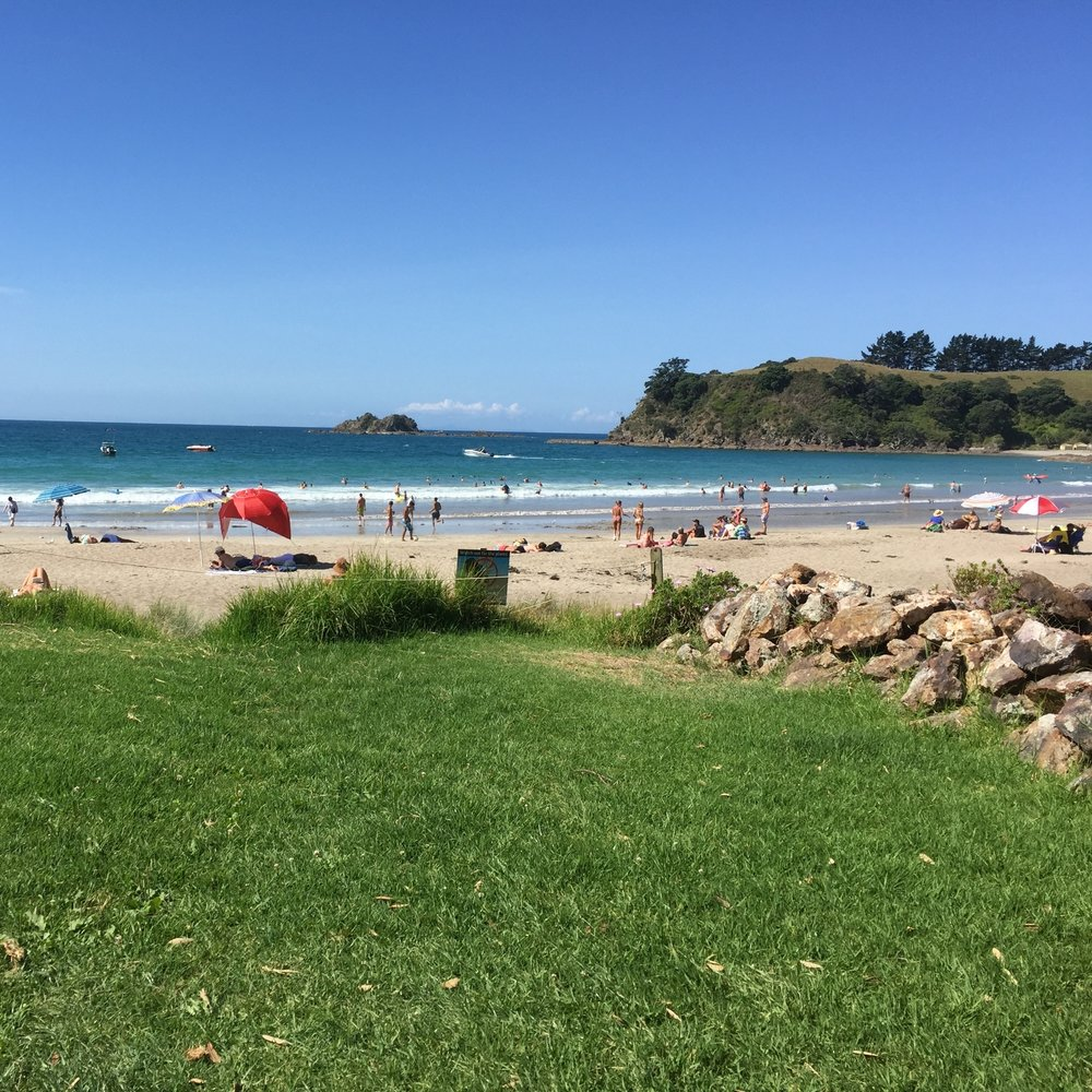 Sunshine, sand and swimming at Sandy Bay