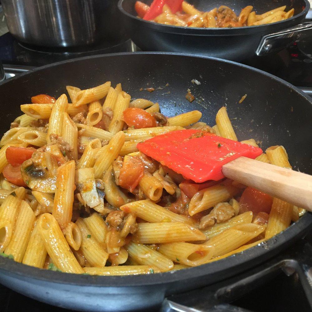 Italian sausage & mushroom penne