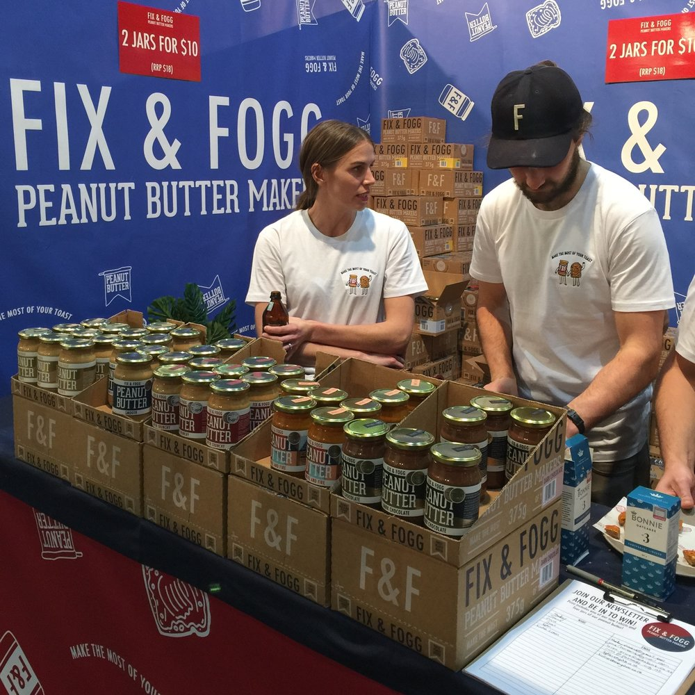 Spotted Morgan from Bonnie Oatcakes helping out at  Fix & Fogg  stand
