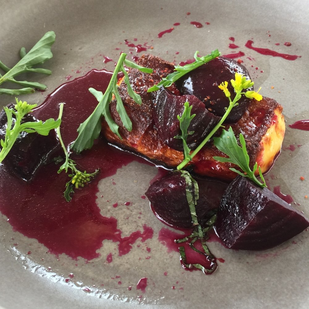 Hohepa haloumi with vine roasted beetroot & burnt honey